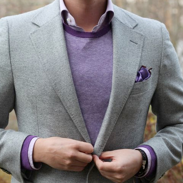 creative purple outfits for ladies