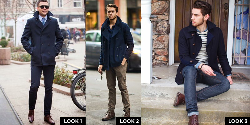 Navy Peacoat (1 Item – 3 Looks) | Famous Outfits