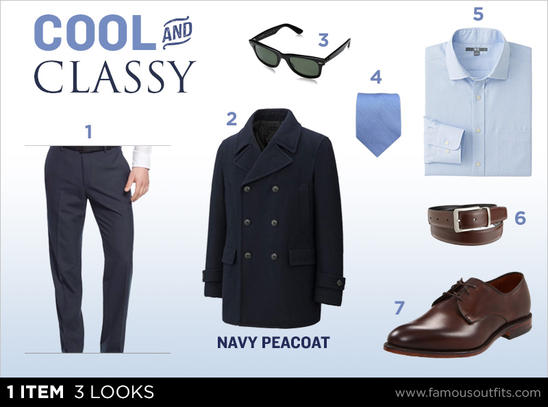 Navy Peacoat - Cool and Classy