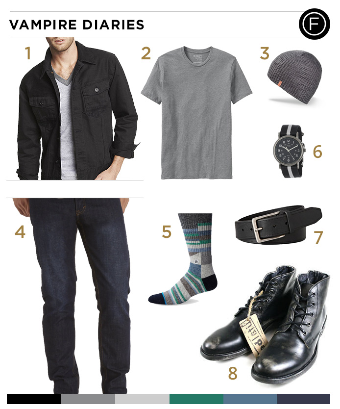 64098f6188bbb Dress Like Paul Wesley | Famous Outfits
