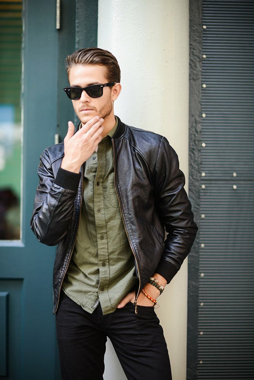 Men S Black Leather Jacket Style Famous Outfits