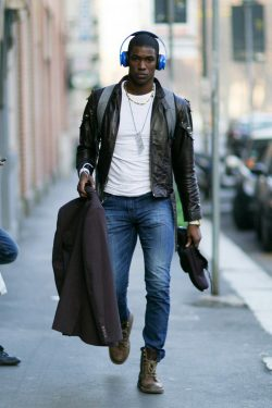 Men's Black Leather Jacket Style | Famous Outfits