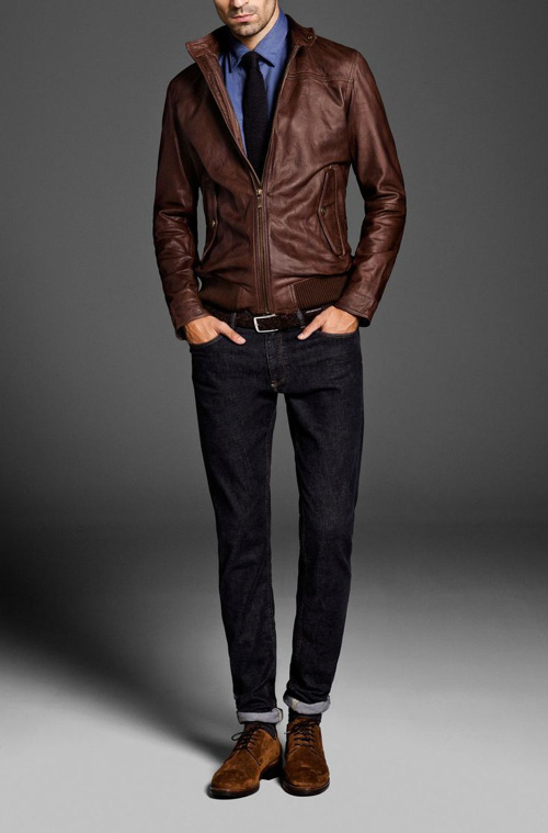 Men S Brown Leather Jackets Style Famous Outfits