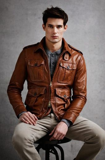 Men&39s Brown Leather Jackets Style | Famous Outfits