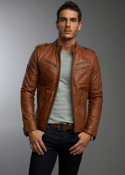 Menu0026#39;s Brown Leather Jackets Style | Famous Outfits