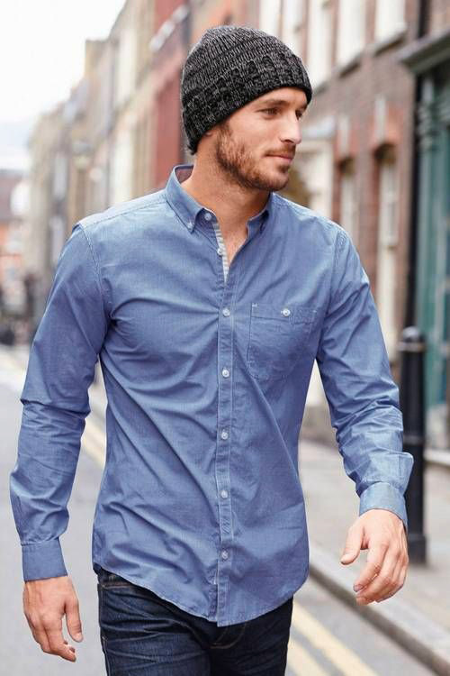 Chambray Shirt Men