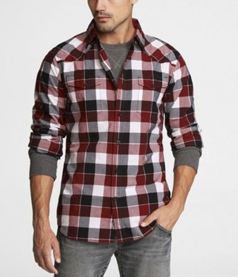Plaid flannel shirts inspiration for men famous outfits for Red and white plaid shirt mens