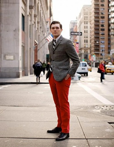 Men's Red Pants Inspiration