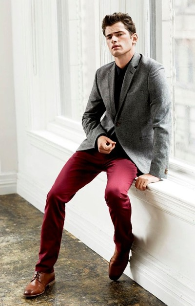 Men's Red Pants Inspiration | Famous Outfits