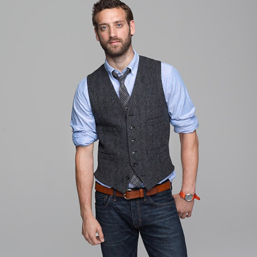 Shop for men's vests including dress vests, casual vests & vest jackets. See the latest styles & brands of vests for men from Men's Wearhouse. × Restrictions apply. striped or patterned vest with jeans—either with or without a blazer. A vest is a perfectly appropriate accessory for both office attire and stylish socializing.