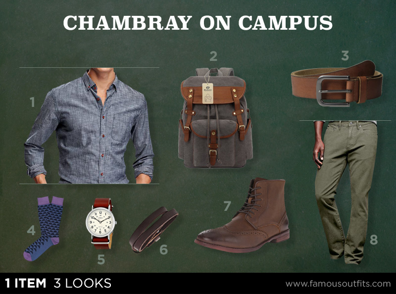 Chambray on Campus - 1 Item 3 Looks