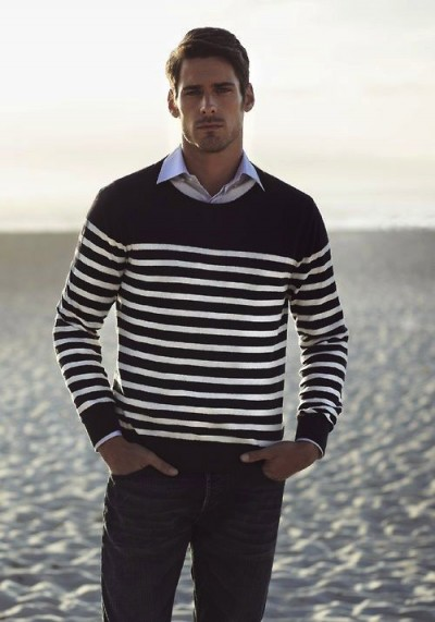 Black And White Striped T Shirt Men