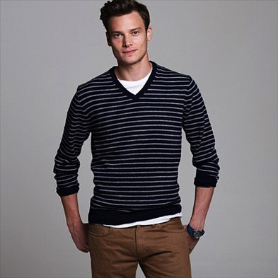 Mens Bold Horizontal Stripe Crew Jumper New Look Buy Cheap Manchester Professional Sale Browse Prices Online Official Q8JPl