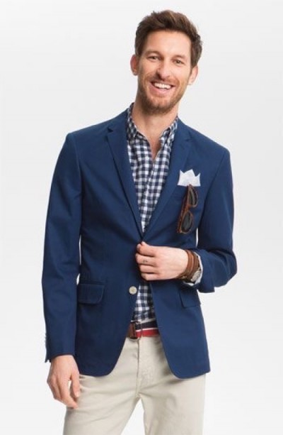 Light Navy Sports Coat Fashion Men
