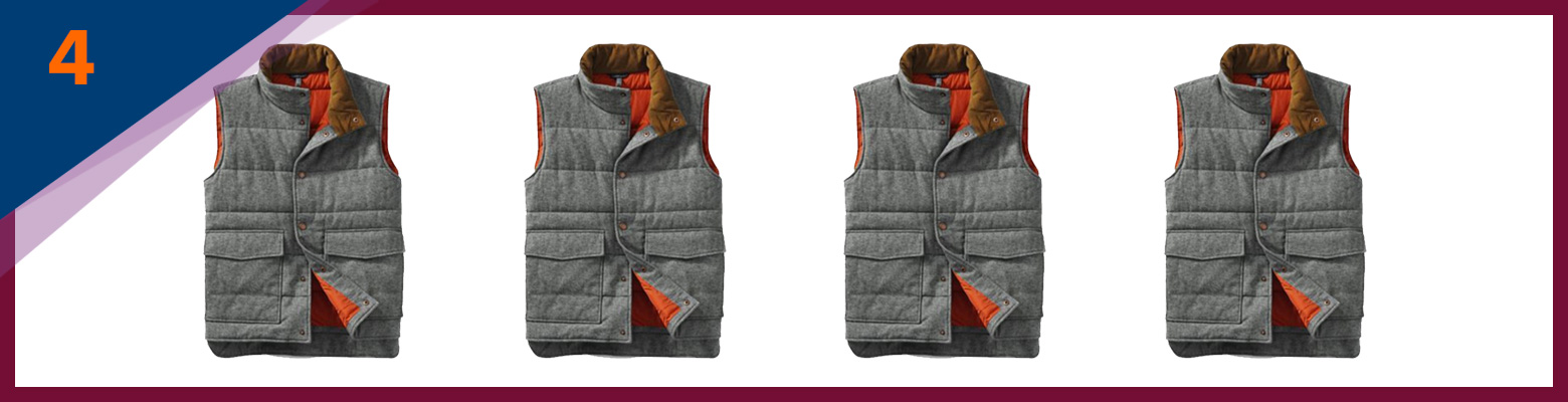 Lands' End Herringbone Puffer Vest